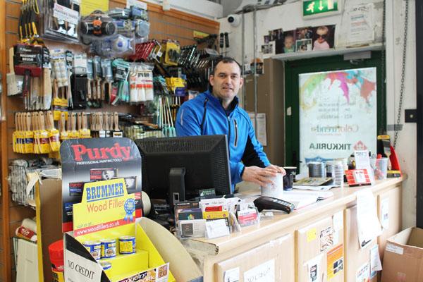 pat walsh paints, paint shop supplier midleton east cork
